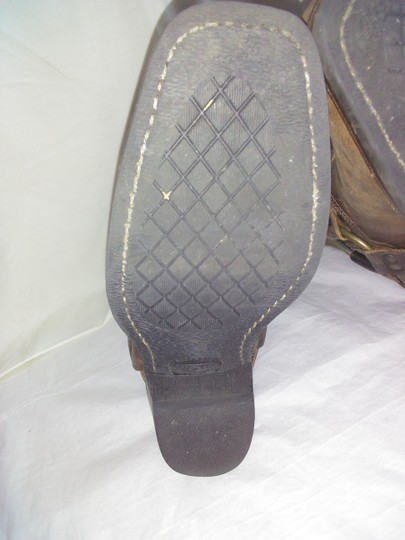 Frye Made In Usa Ankle Strap O-ring Studs Motorcycle Tan Boots Image 6