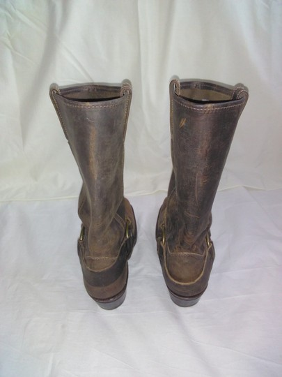 Frye Made In Usa Ankle Strap O-ring Studs Motorcycle Tan Boots Image 7