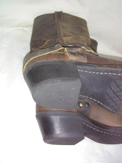 Frye Made In Usa Ankle Strap O-ring Studs Motorcycle Tan Boots Image 9