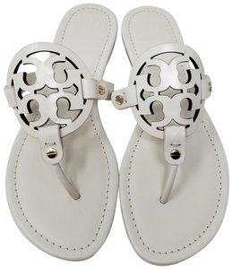 449b1c89b04c Tory Burch White Leather Miller Thong Slide Sandals. Size  US 9.5 Regular (M  ...