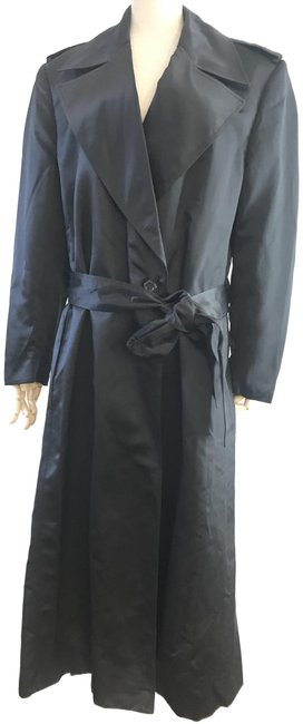 Gucci Black Satin Coat Size 10 (M) Gucci Black Satin Coat Size 10 (M) Image 1