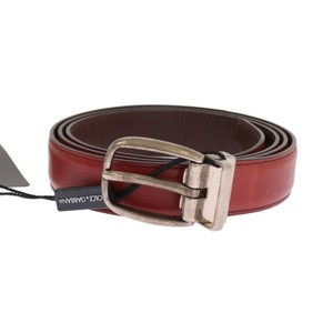 Dolce&Gabbana Red / Gold D11025-2 Leather Buckle Belt (105 Cm / 42 Inches) Groomsman Gift