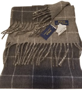 Polo Ralph Lauren Men's Wool Scarf Plaid Men's Pony Player