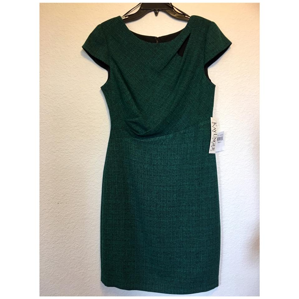 f45c221065164 Kay Unger Green Multi 30d676 Mid-length Night Out Dress Size 10 (M ...