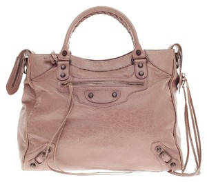 Balenciaga Leather Tote in Dusty Pink