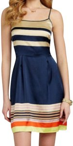 Daniel Cremieux short dress Navy Ivory on Tradesy
