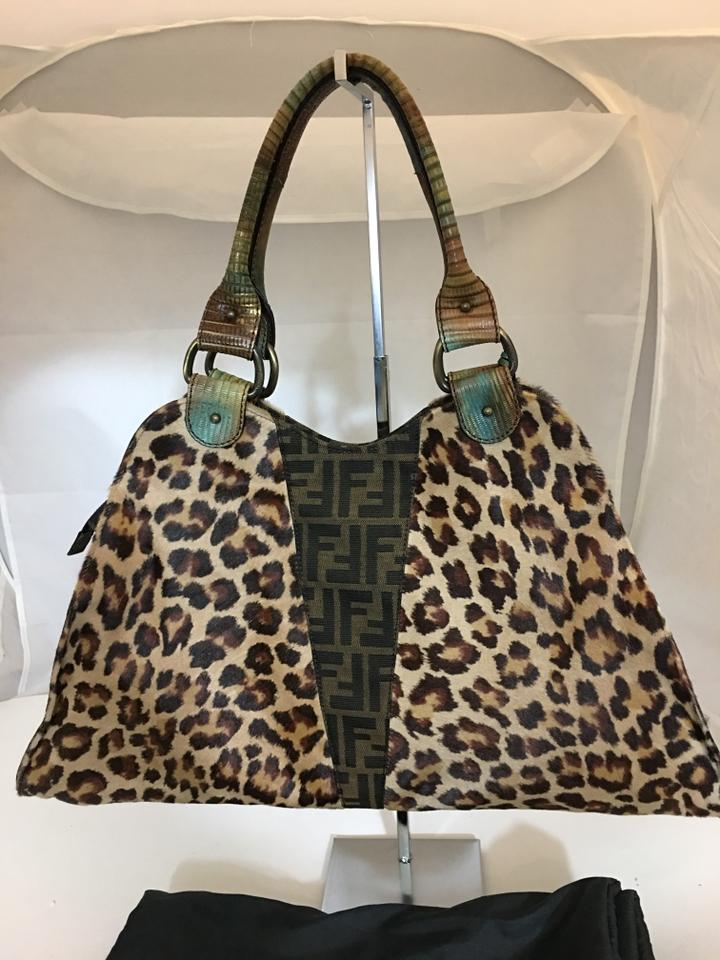 Fendi 1151118 Animal Print W  Ff Logo   Snake Sk Brown Calf Hair Hobo Bag -  Tradesy c81aab15ab3eb