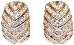 Dior Vintage Christian Dior Channel Set Crystals Clip Earrings