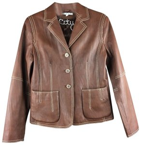 CAbi Brown Leather Jacket