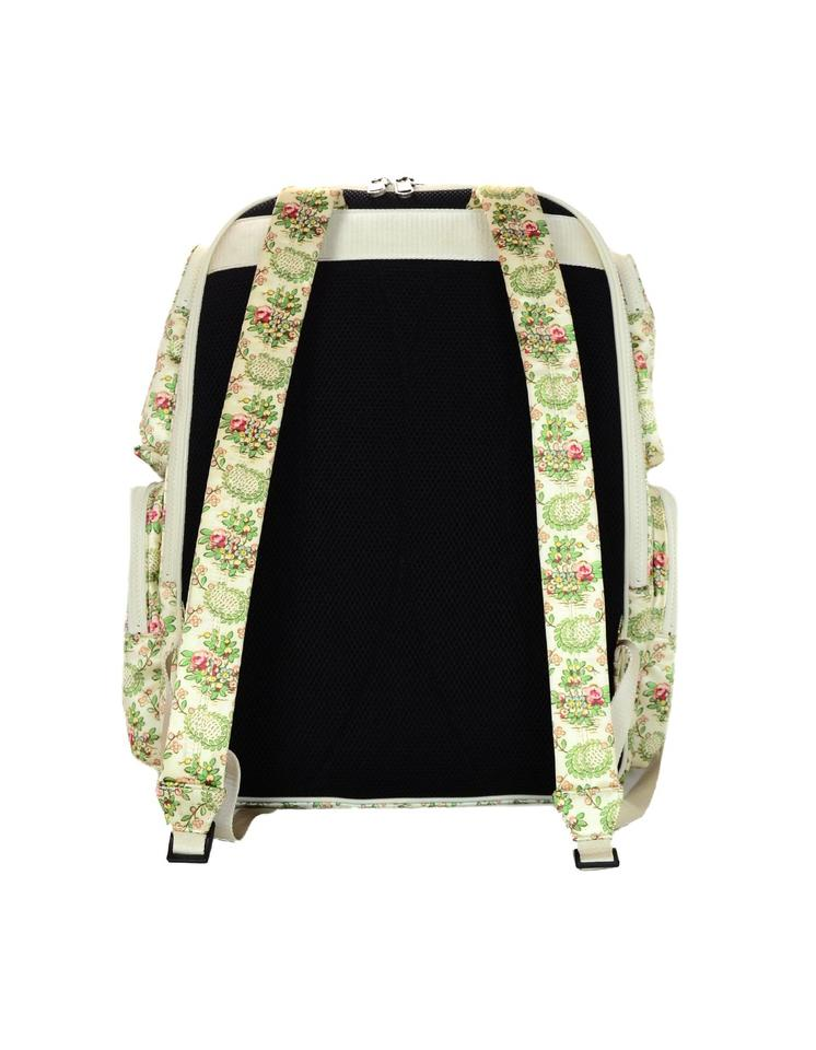 b7c6eef97c10 Gucci 2018 Floral Large W/ Ny Yankees Patch Ivory Satin Backpack - Tradesy