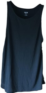 Mossimo Supply Co. New With Tags Shoestring Close Rounded Neckline Machine Washable Top Black