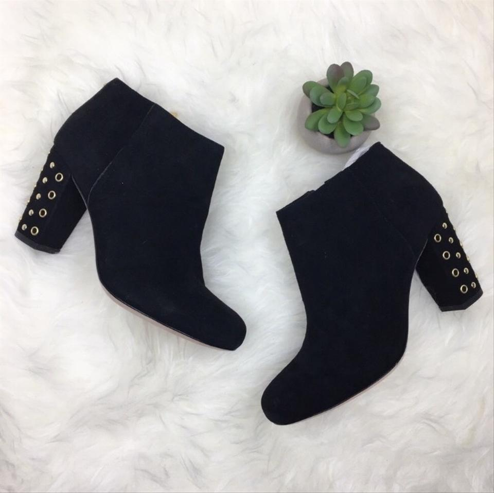 93c473dee705 Kate Spade Black Gold ♤ New York Suede Cirra Polka Dots Boots ...