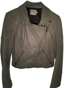Mike & Chris Gunmetal grey Leather Jacket
