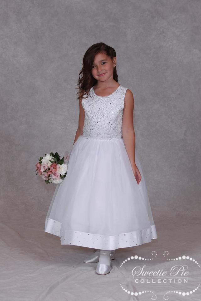dd9dc58a8e Sweetie Pie Collection White First Communion Dress 3020t Size 7 ...