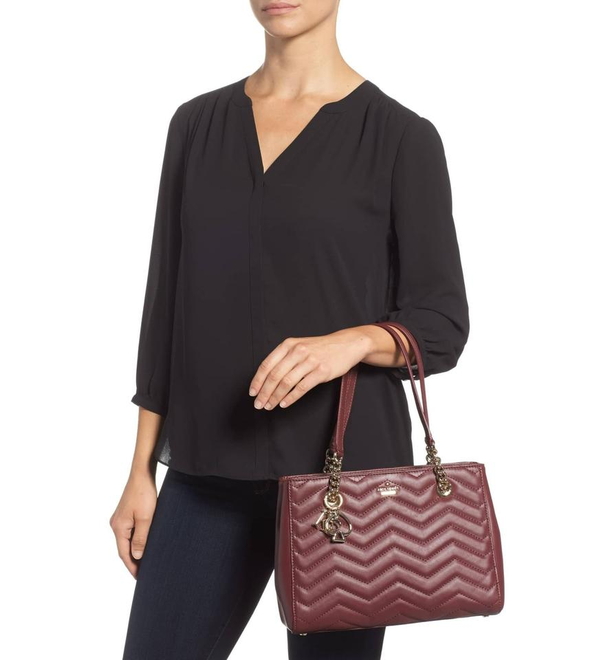 a5b7b5709 Kate Spade Reese Park Small Courtnee Quilted Leather Chevron Leather  Pxru9349 Shoulder Bag Image 5. 123456