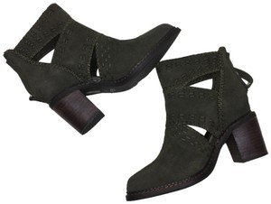 Sbicca Boho Ankle Cut-out GREEN Boots
