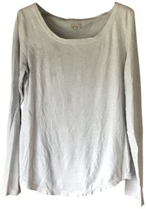 Aerie Long Sleeves Rounded Neckline Rounded Hemline Cotton/Polyester Machine Washable T Shirt Pale Blue