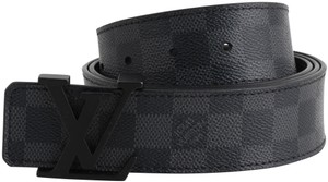 Louis Vuitton Louis Vuitton Damier Graphite LV Intiales Belt