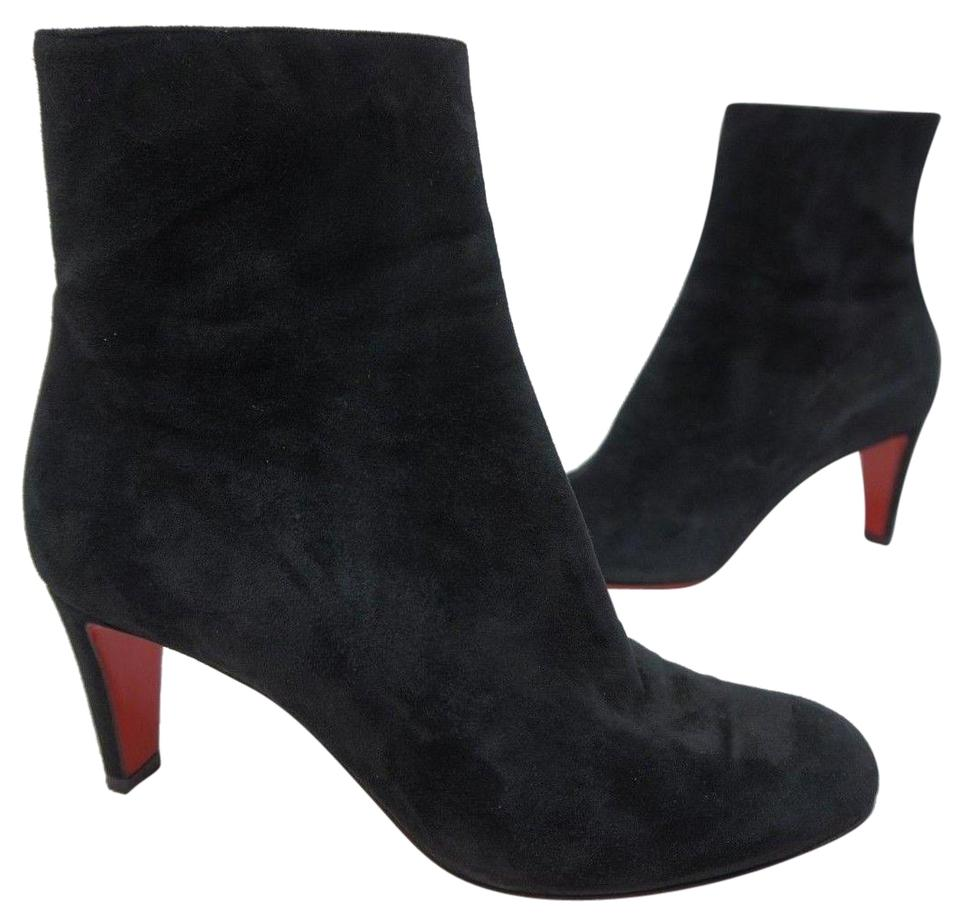 45d14f3e161d Christian Louboutin Black Top 70 Suede Red Sole Ankle Boots Booties. Size  EU  38 ...