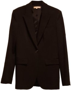 Michael Kors Collection Made In Italy Jacket Virgin Wool Fine Tailoring Classic Black Blazer