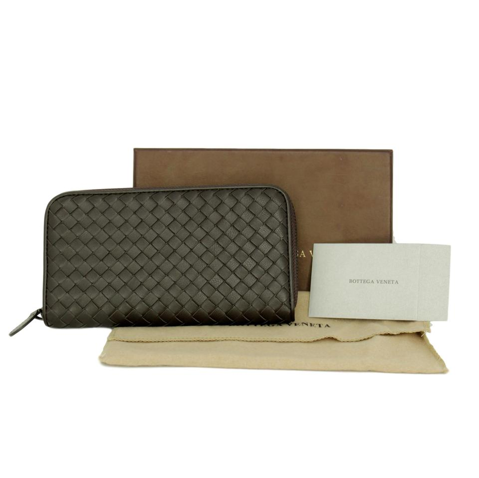 a364cbc06fd21 Bottega Veneta Brown Leather Intrecciato Continental Zip-around 3  Compartment Wallet