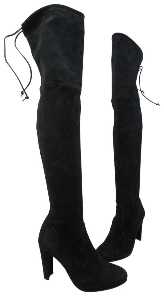 721a084076a Stuart Weitzman Black Highland Over The Knee Suede Boots/Booties Size US  7.5 Regular (M, B) 41% off retail
