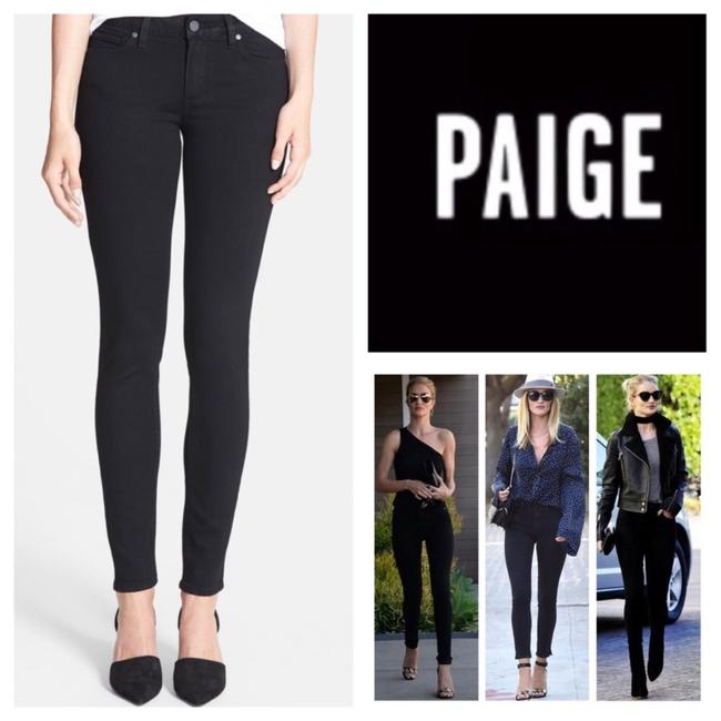 Paige Black Verdugo Ultra In Overdye Skinny Jeans Size 8 (M, 29, 30) Paige Black Verdugo Ultra In Overdye Skinny Jeans Size 8 (M, 29, 30) Image 1