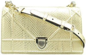 Dior Christian Snakeskin Shoulder Bag