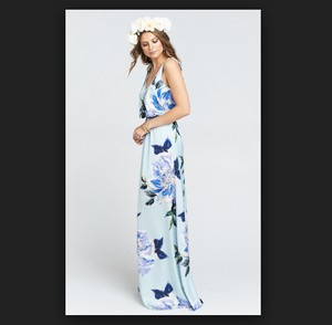 Show Me Your Mumu Blue Poly Kendall In Mint To Be Casual Bridesmaid/Mob Dress Size 00 (XXS)