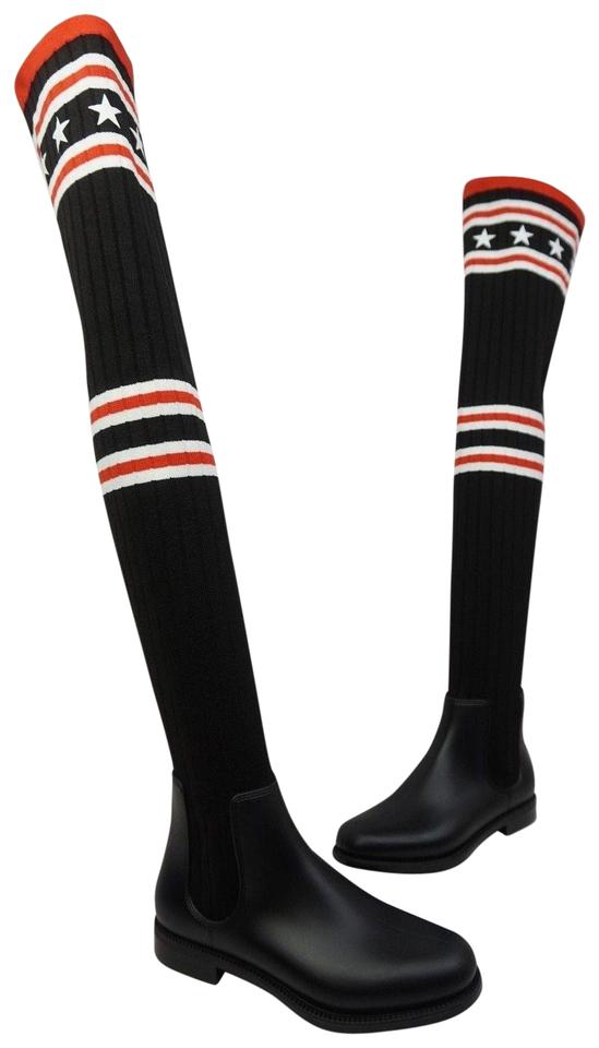 2fe351df408d Givenchy Black Storm Over The Knee Sock Women s Boots Booties Size ...