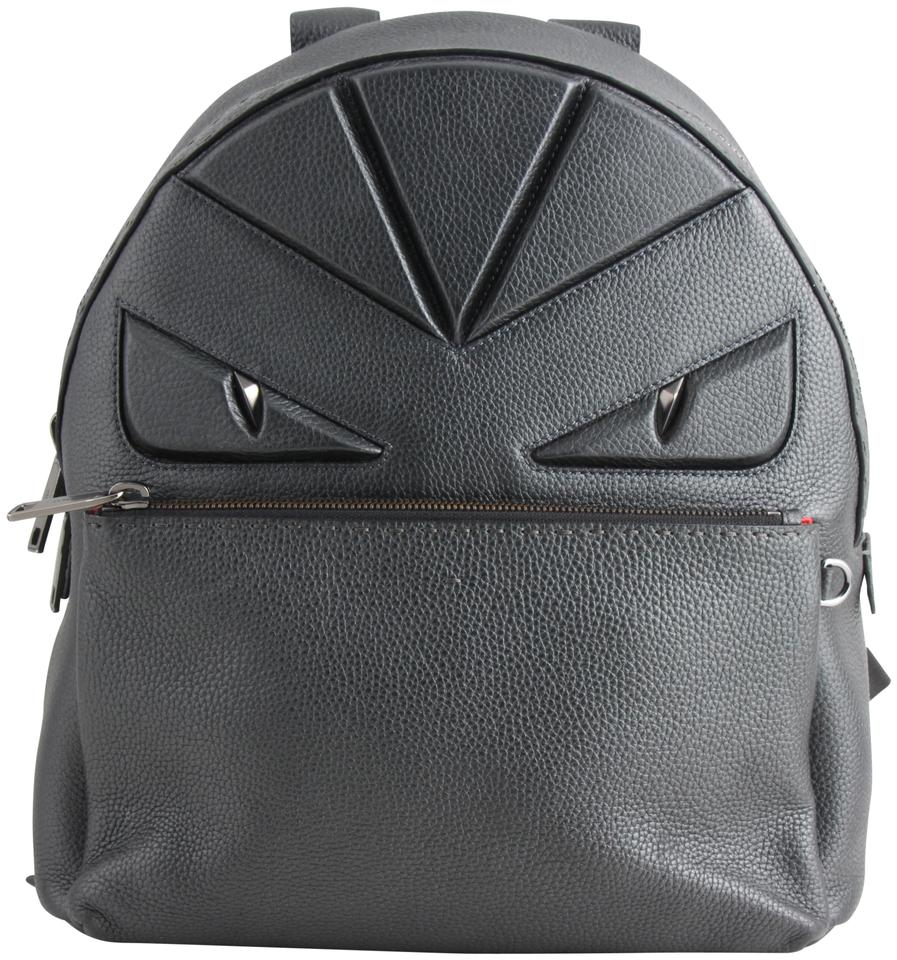 53094549b146 Fendi Bugs Selleria Gunmetal Leather Backpack - Tradesy