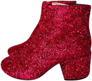 MM6 Maison Martin Margiela Red glitter Boots
