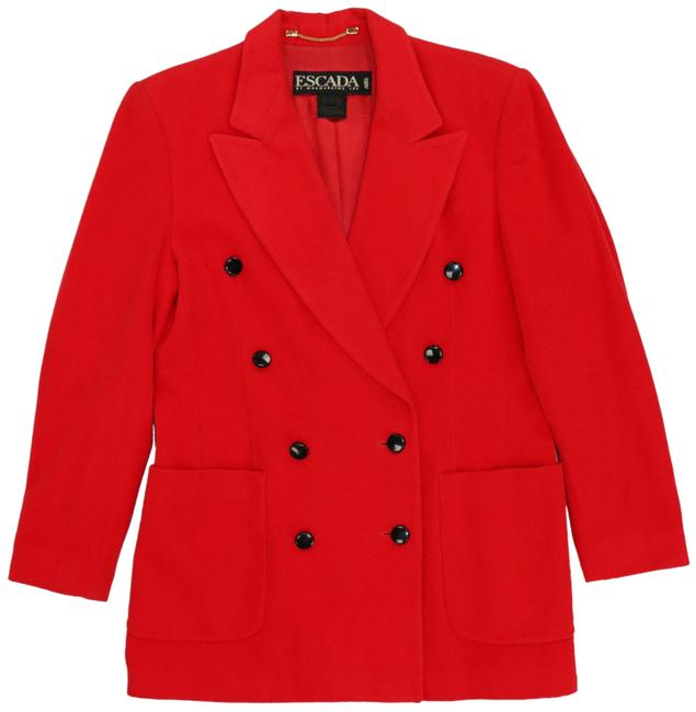 Item - Red Margaretha Ley Angora Wool Cashmere Blend Made In Germany Blazer Size 12 (L)