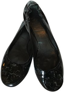Tory Burch Patent Leather Ballet Black Flats
