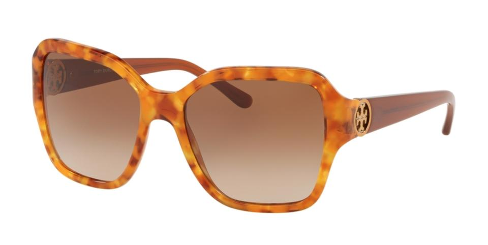 4a3ab9d986fa Tory Burch New TORY BURCH Sunglasses TY 7125 1725/13 Amber Tortoise w/ Brown  ...