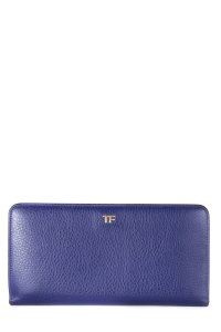 Tom Ford TOM FORD Purple Leather Continental Wallet