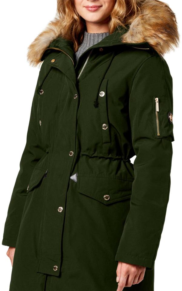 42f2f8726 Michael Kors Olive Faux Trim Down Hooded Parka Coat Size 2 (XS)