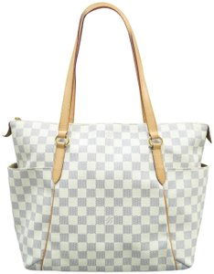 Louis Vuitton Lv Totally Mm Azur Canvas Shoulder Bag