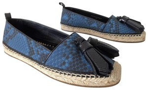 Burberry Hodgeson Python Snake Espadrille Tassel Mineral Blue Flats