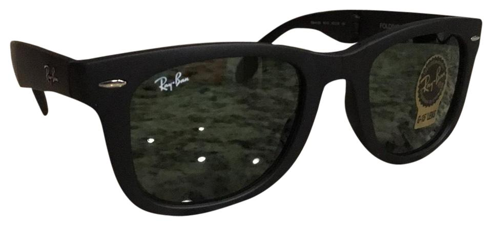 15662f1586029 ... sweden ray ban 4105 folding wayfarer 601s matte black 50mm a29c1 d92ab