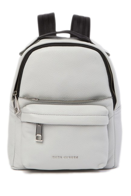 Item - Varsity Pack Small Light Grey Leather Backpack