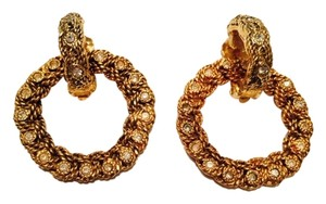 Chanel Chanel convertible hoop earrings with rhinestones