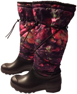 Dirty Laundry Knee-hi Print Faux Shearling Black/Floral Multi Boots