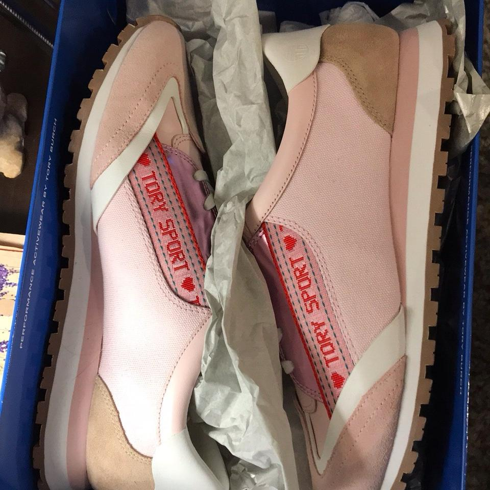 d9f2903192f Tory Sport by Tory Burch Pink Logo Trainers Sneakers Size US 9 ...