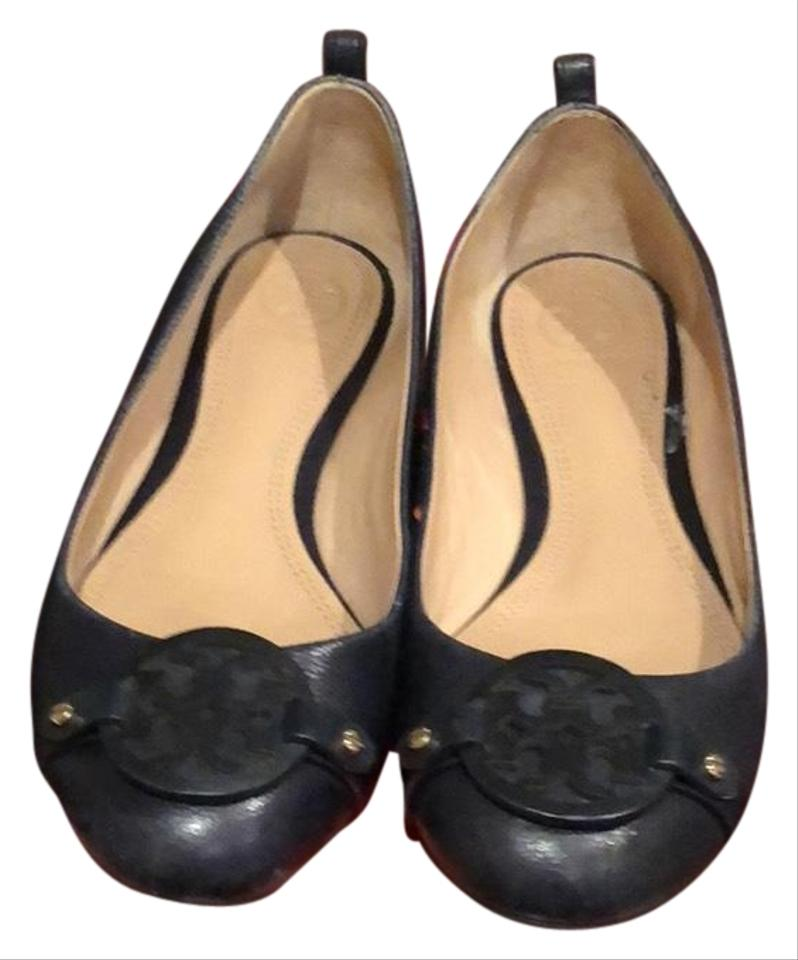 6b19e9379 Tory Burch Navy Blue Mini Miller Flats Size US 7 Regular (M