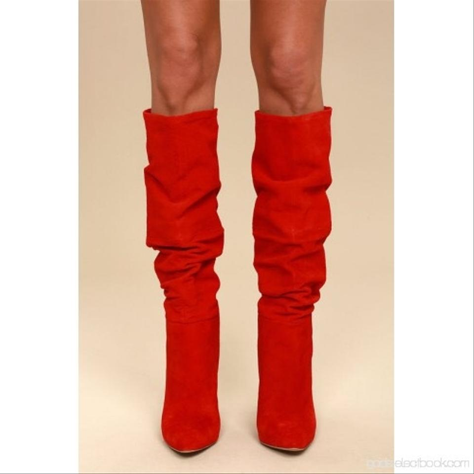 reliable quality great deals check out Steve Madden Red Carrie Suede Boots/Booties Size US 6.5 Regular (M ...