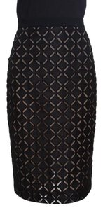 Roland Mouret Cotton Silk Skirt Black