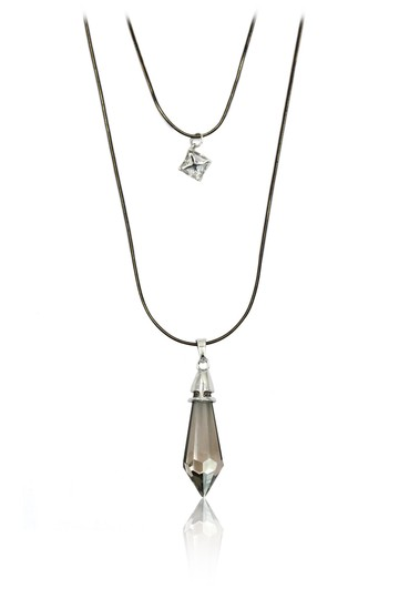 Preload https://img-static.tradesy.com/item/24434643/gray-double-chain-pendant-crystal-columns-necklace-0-0-540-540.jpg