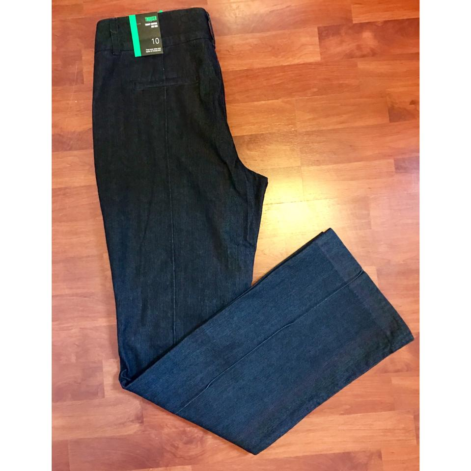 1d0378f2680a4 Style   Co Blue Dark Wash Rinse Trouser Wide Leg Jeans Size 10 (M ...