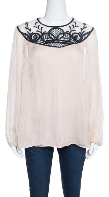 Preload https://img-static.tradesy.com/item/24434705/temperley-london-beige-contrast-embroidered-silk-long-sleeve-maxine-bl-blouse-size-10-m-0-1-650-650.jpg